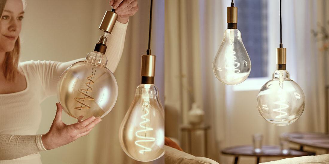 Die smarte WiZ G200 Giant Globe LED-Lampe in Kugelform bringt wirksames Licht in euer Leben. Diese braun beschichtete Lampe eignet sich prima für dekorative Leuchten.