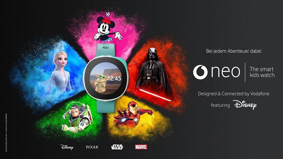 Neo kann mit einem ausgewählten Charakter aus dem Disney, Pixar, Star Wars oder Marvel Universum personalisiert werden. Bild: Vodafone