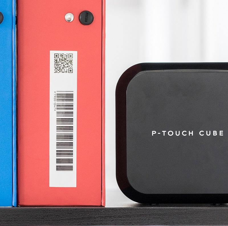 Auch optisch ein echter Hingucker: der P-touch CUBE. Bild: Brother