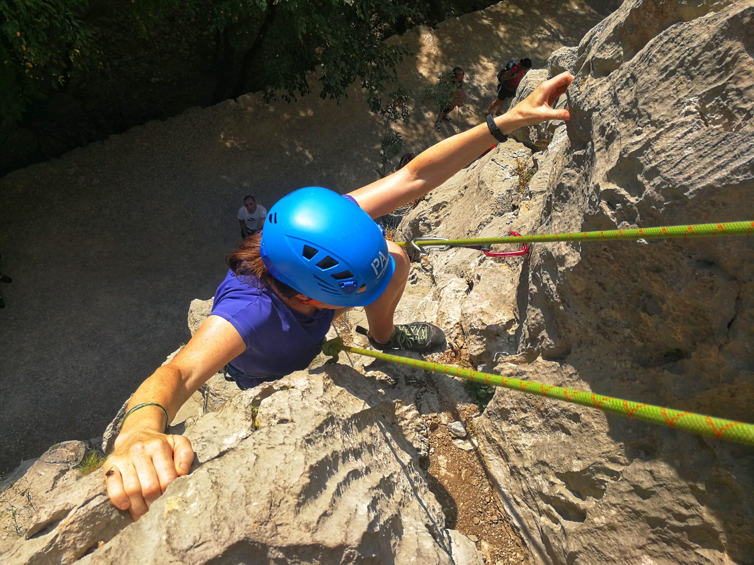 Auch fortgeschrittene Kletterer finden eine Herausforderung.