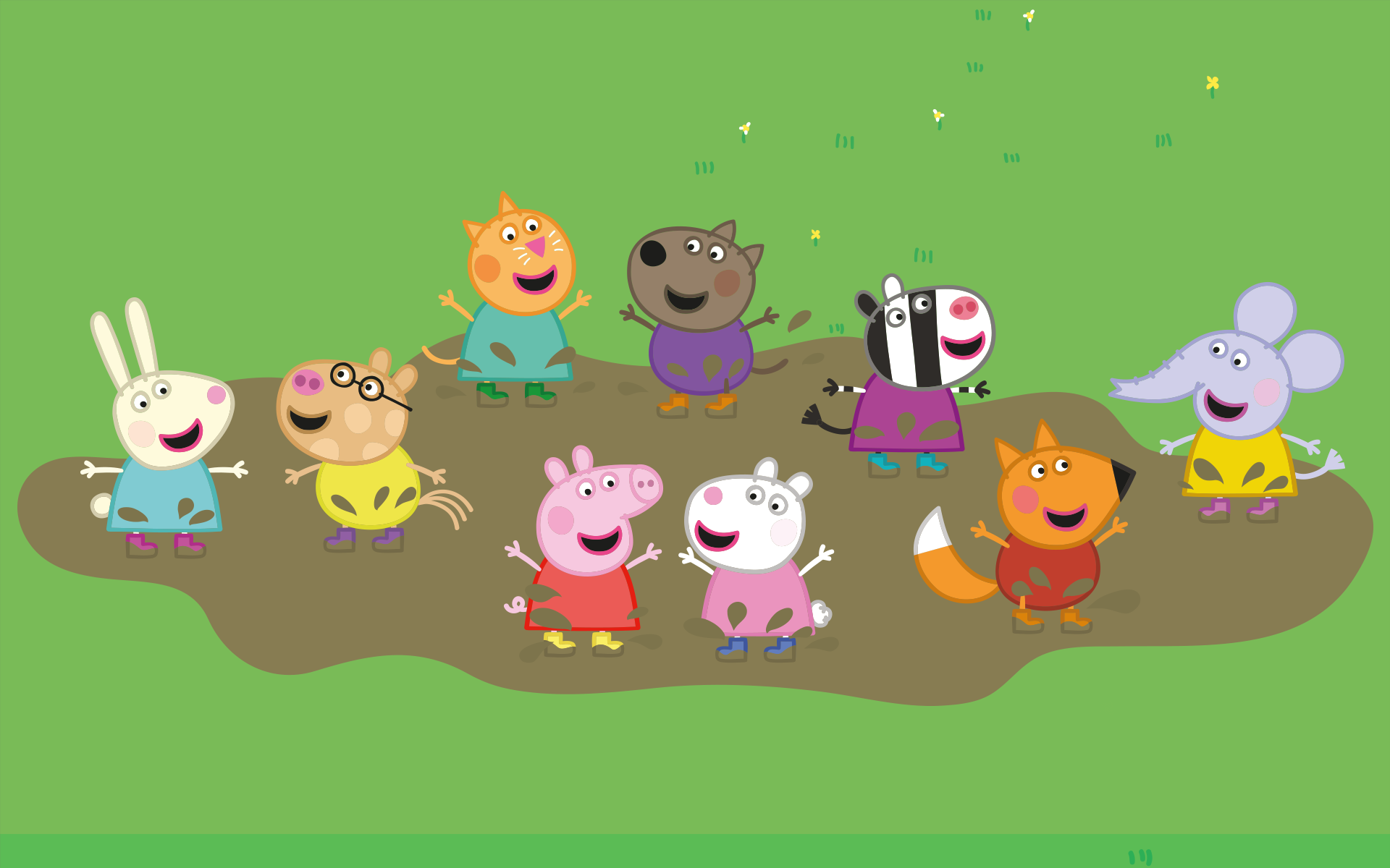 Die Geschichten um Peppa und ihre Tierfreunde wie Freddie Fuchs, Emily Elefant, Molly Mieze und Pedro Pony versprühen gute Laune und animieren Kinder dazu, die Natur zu entdecken und Neues zu probieren. Bild: Peppa Pig © Astley Baker Davies Ltd/Entertainment One UK Ltd 2003