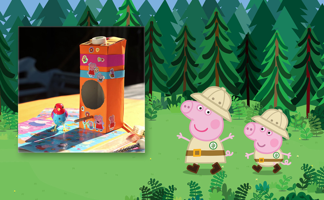 Upcycling: Kinder-Basteltipps mit Peppa Wutz